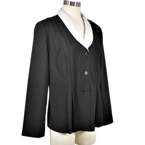 Vintage T. Milano Stretch Pleated Jacket Size 12